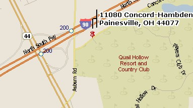 Map of Quai lHollow Resort location